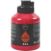Pigment Art School, primary red, semi-opaque, good fade resistant, 500ml