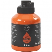 Pigment Art School, orange, semi-opaque, good fade resistant, 500ml