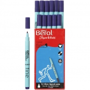 Berol Colourfine, spets: 0,6 mm, dia. 10 mm, 12 st., lila