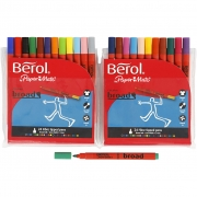 Berol Colourbroad, spets: 1,7 mm, dia. 10 mm, 24 st., mixade färger