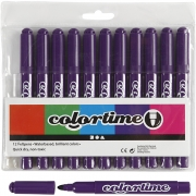 Colortime tuschpennor, spets: 5 mm, 12 st., lila