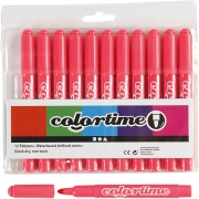 Colortime tuschpennor, spets: 5 mm, 12 st., rosa
