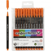 Colortime Fineliner Tusch, spets: 0,6-0,7 mm, 12 st., orange