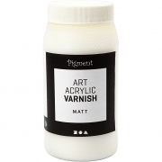 Art Acrylic slutfernissa, vit, matt transparenta, Matt, 500ml