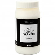 Art Acrylic slutfernissa, Blank transparent, vit, Blank, 500ml