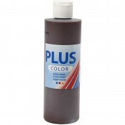 Plus Color hobbyfärg, chocolate, 250 ml/ 1 flaska