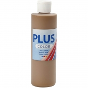 Plus Color hobbyfärg, ljusbrun, 250 ml/ 1 flaska