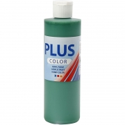 Plus Color hobbyfärg, briljantgrön, 250 ml/ 1 flaska
