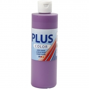 Plus Color hobbyfärg, dark lilac, 250 ml/ 1 flaska