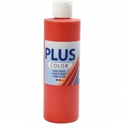 Plus Color hobbyfärg, brilliant red, 250 ml/ 1 flaska