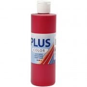 Plus Color hobbyfärg, berry red, 250 ml/ 1 flaska