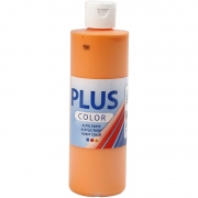 Plus Color hobbyfärg, pumpkin, 250 ml/ 1 flaska