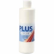 Plus Color hobbyfärg, råvit, 250 ml/ 1 flaska