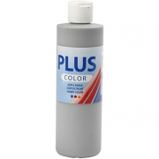 Plus Color hobbyfärg, rain grey, 250 ml/ 1 flaska