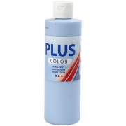 Plus Color hobbyfärg, himmelsblå, 250 ml/ 1 flaska
