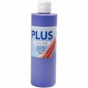 Plus Color hobbyfärg, ultra marine, 250 ml/ 1 flaska