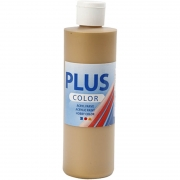 Plus Color hobbyfärg, guld, 250 ml/ 1 flaska