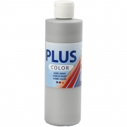Plus Color hobbyfärg, silver, 250 ml/ 1 flaska