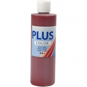 Plus Color hobbyfärg, gml. röd, 250 ml/ 1 flaska