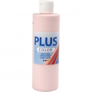 Plus Color hobbyfärg, soft pink, 250 ml/ 1 flaska