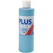 Plus Color hobbyfärg, turkos, 250 ml/ 1 flaska