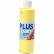 Plus Color hobbyfärg, primärgul, 250 ml/ 1 flaska