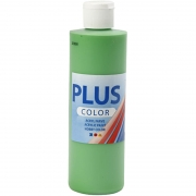 Plus Color hobbyfärg, bright green, 250 ml/ 1 flaska