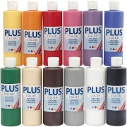 Plus Color hobbyfärg, standardfärger, 12x250 ml/ 1 förp.