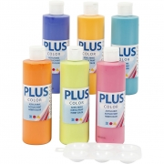 Plus Color hobbyfärg, 6x250 ml/ 1 förp.