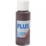 Plus Color hobbyfärg, chocolate, 60 ml/ 1 flaska