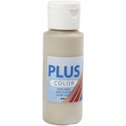 Plus Color hobbyfärg, gråbeige, 60 ml/ 1 flaska