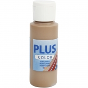 Plus Color hobbyfärg, ljusbrun, 60 ml/ 1 flaska