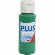 Plus Color hobbyfärg, briljantgrön, 60 ml/ 1 flaska