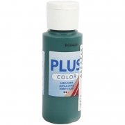 Plus Color hobbyfärg, mörkgrön, 60 ml/ 1 flaska