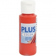 Plus Color hobbyfärg, brilliant red, 60 ml/ 1 flaska
