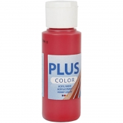 Plus Color hobbyfärg, berry red, 60 ml/ 1 flaska