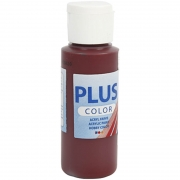 Plus Color hobbyfärg, bordeaux, 60 ml/ 1 flaska