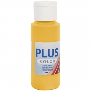 Plus Color hobbyfärg, yellow sun, 60 ml/ 1 flaska