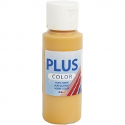 Plus Color hobbyfärg, gulockra, 60 ml/ 1 flaska