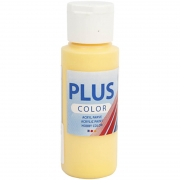 Plus Color hobbyfärg, crocus yellow, 60 ml/ 1 flaska
