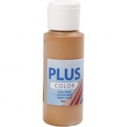 Plus Color hobbyfärg, raw sienna, 60 ml/ 1 flaska