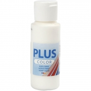 Plus Color hobbyfärg, råvit, 60 ml/ 1 flaska