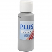 Plus Color hobbyfärg, rain grey, 60 ml/ 1 flaska