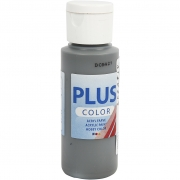 Plus Color hobbyfärg, mörkgrå, 60 ml/ 1 flaska