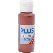 Plus Color hobbyfärg, red copper, 60 ml/ 1 flaska