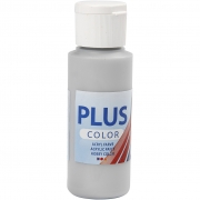 Plus Color hobbyfärg, silver, 60 ml/ 1 flaska