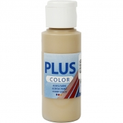 Plus Color hobbyfärg, dark beige, 60 ml/ 1 flaska