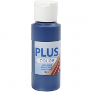 Plus Color hobbyfärg, marinblå, 60 ml/ 1 flaska