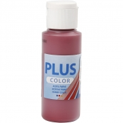 Plus Color hobbyfärg, gml. röd, 60 ml/ 1 flaska