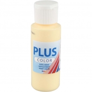 Plus Color hobbyfärg, ljusgul, 60 ml/ 1 flaska